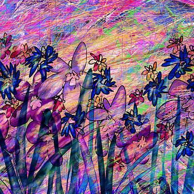 Blooming Digital Art - Spring Flowers by Rachel Christine Nowicki