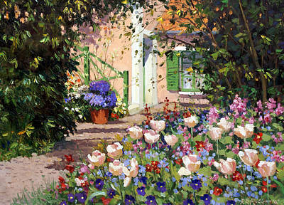 Painting - Spring Flowers  by Roelof Rossouw