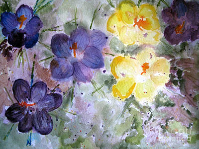 Painting - Spring Flowers by Sandy McIntire