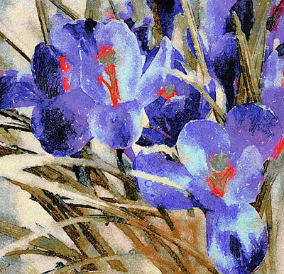 Digital Art - Spring Flowers Watercolors by Yury Malkov