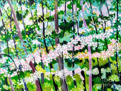 Painting - Spring Forest by Alison Caltrider
