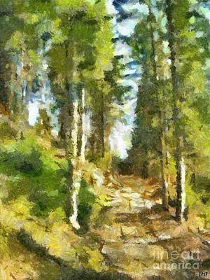 Spring Forest Art Print by Dragica  Micki Fortuna