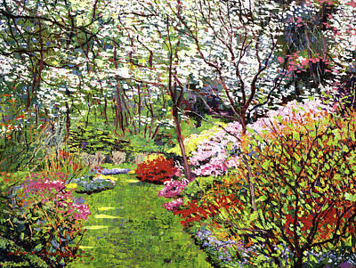 Trees Blossom Painting - Spring Forest Vision by David Lloyd Glover