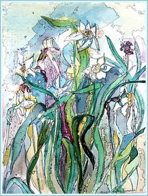 Daffodils Mixed Media - Spring Frenzy by Mindy Newman