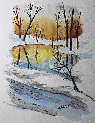 Painting - Spring Frost Pocket by Jack G Brauer