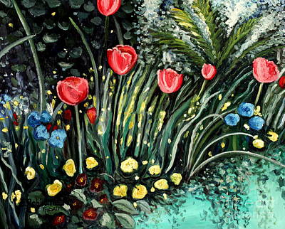 Decor Painting - Spring Garden by Elizabeth Robinette Tyndall