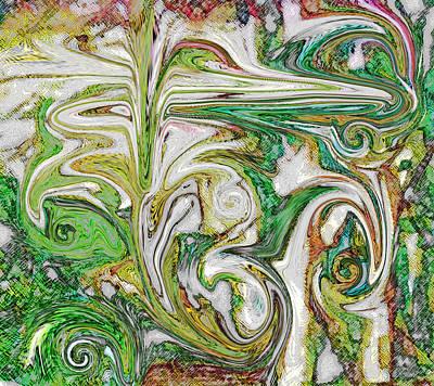 Spring Garden Art Print by Mindy Newman
