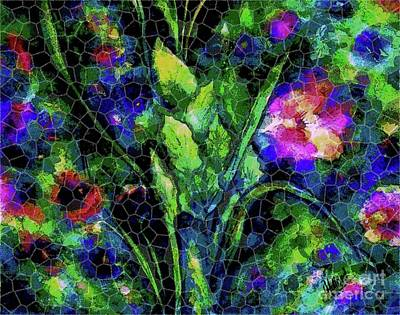 Painting - Spring Garden Mosaic by Hazel Holland