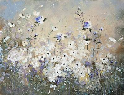 White Flowers Painting - Spring Gardens by Laura Lee Zanghetti