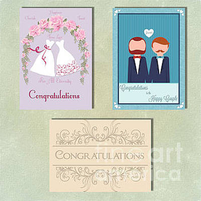 Digital Art - Spring Gay Wedding by JH Designs