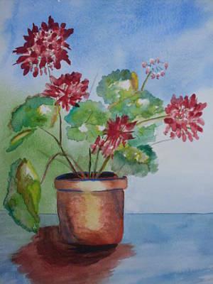 Spring Geranium 1  Art Print