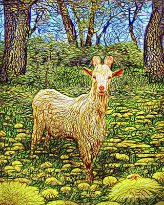 Spring Goat Meadow Art Print