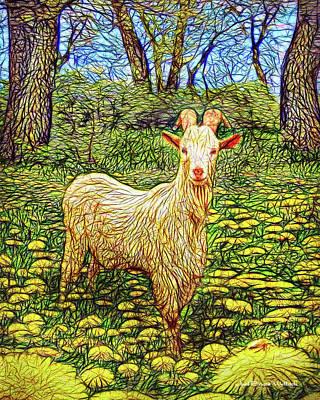 Digital Art - Spring Goat Meadow by Joel Bruce Wallach