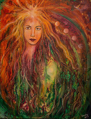 Archetype Painting - Spring Goddess by Solveig Katrin