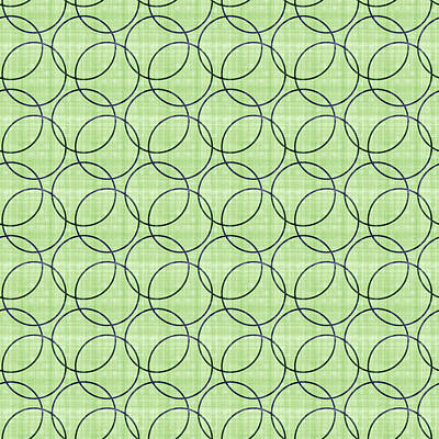 Design Mixed Media - Spring Green Pattern Circles by Georgiana Romanovna