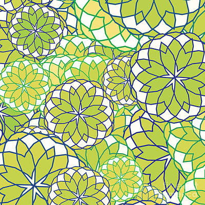 Digital Art - Spring Green Pattern by Methune Hively