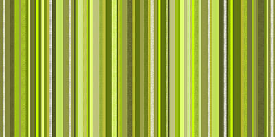 Digital Art - Spring Green Stripe Abstract by Val Arie