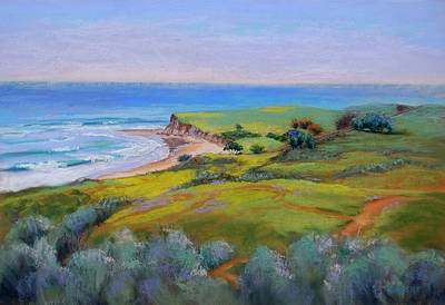 Lynee Sapere Wall Art - Pastel - Spring Greens At Bulito by Lynee Sapere