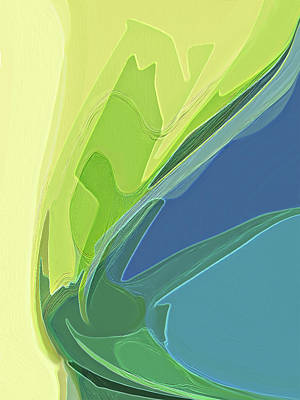Digital Art - Spring Greens by Gina Harrison