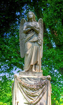 Photograph - Spring Grove Angel Statue by Jonny D