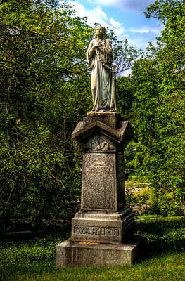 Photograph - Spring Grove Statue by Jonny D