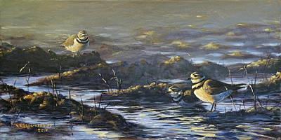 Painting - Spring Guests by Valentin Katrandzhiev