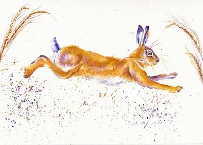 Brown Hare Painting - Spring Hare by Debra Hall