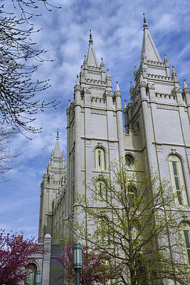 Mormon Temple Photograph - Spring Has Sprung by Chad Dutson
