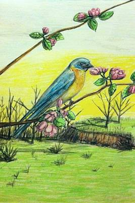 Your Home Drawing - Spring Has Sprung by Larry Lamb