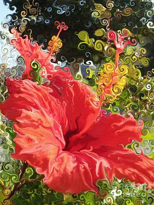 Spring Hibiscus Art Print