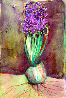 Spring Bulbs Painting - Spring Hyacinth by Mindy Newman