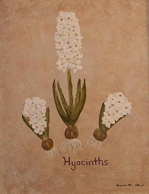 Spring Hyacinths Art Print by Brenda Marie Black