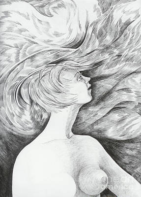 Art Print featuring the drawing Spring I by Anna  Duyunova