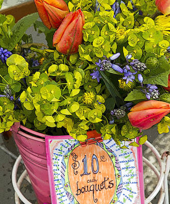 Photograph - Spring In A Bucket by Rebecca Cozart