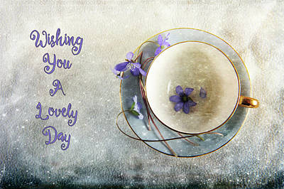 Spring In A Cup Art Print by Randi Grace Nilsberg