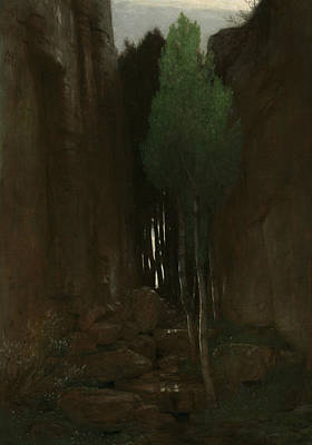 Spring In A Narrow Gorge Art Print by Arnold Bocklin