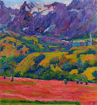 Switzerland Painting - Spring In Bergell by Mountain Dreams