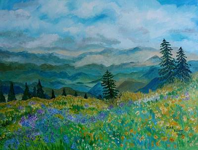 Painting - Spring In Bloom - Mountain Landscape by Julie Brugh Riffey