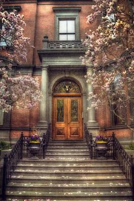 Spring In Boston - Boston Doorways Art Print