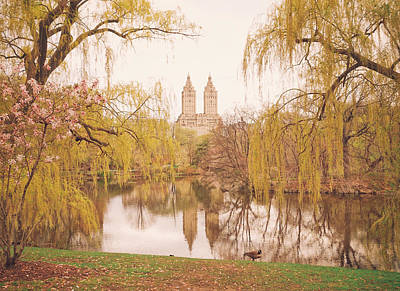 Spring In Central Park Print by Vivienne Gucwa
