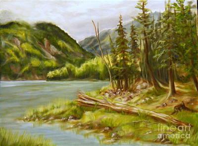 Painting - Spring In Clayton Falls Park by Ida Eriksen