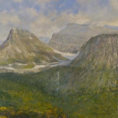 Spring In Glacier National Park Art Print by Gary Kaemmer