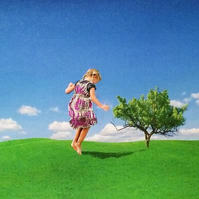 Jenna Thomas Wall Art - Digital Art - Spring In Her Step by Jennifer Thomas