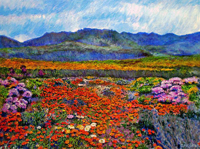 Spring In Namaqualand Art Print by Michael Durst