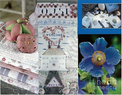 Spring In Pink And Blue Original by Amy Harmala