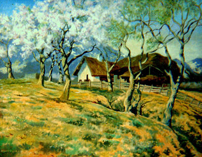 Art Print featuring the painting Spring In Poland by Henryk Gorecki
