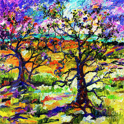 Ginette Impressionism Painting - Spring In Provence by Ginette Callaway