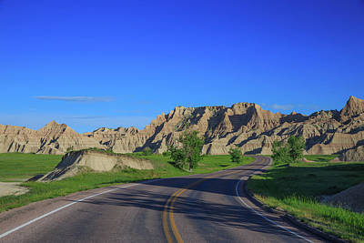 Royalty-Free and Rights-Managed Images - Spring in S-Curves in the Badlands National Park by Bridget Calip