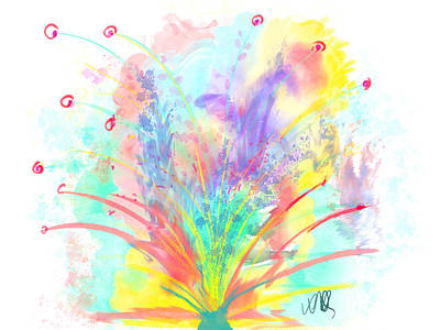 Spring In The Air Art Print by Angela A Stanton
