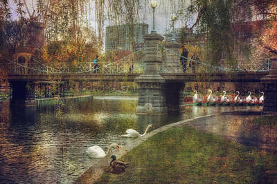 Spring In The Boston Public Garden Art Print by Joann Vitali